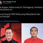 Sebuah lembaga survei Puspoll Indonesia mengungkapkan hasil surveinya terkait partai yang paling bersih dari kasus korupsi