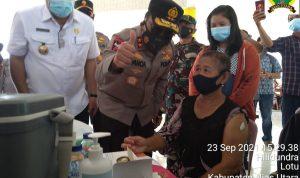 Kapolda Sumut Pantau Langsung Vaksinasi Massal di Kabupaten Nias Utara