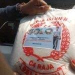 beras berstiker Gibran
